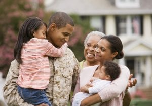 African American military father